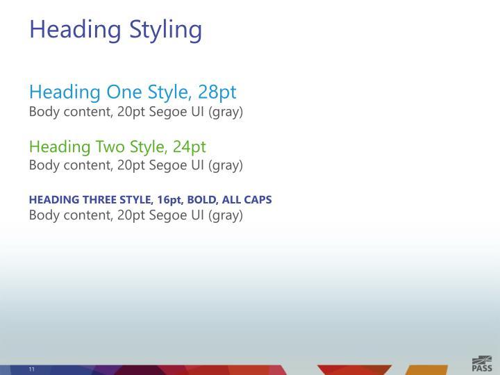 Heading Styling