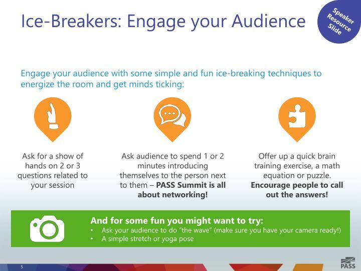 Speaker Resource Slide