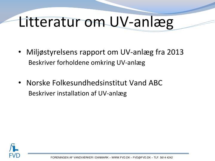 Litteratur om UV-anlæg