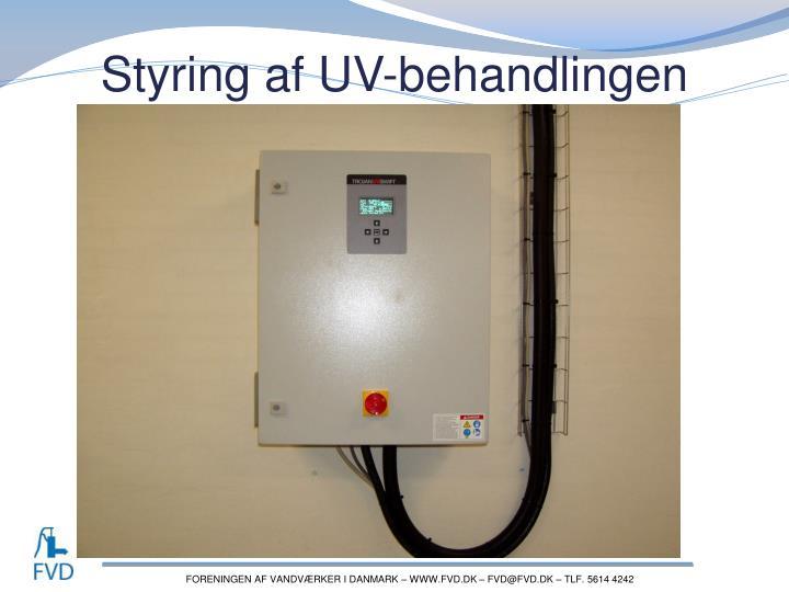 Styring af UV-behandlingen
