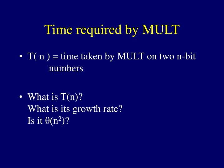 Time required by MULT