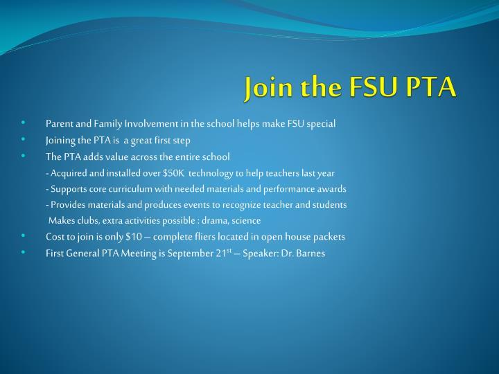 Join the FSU PTA