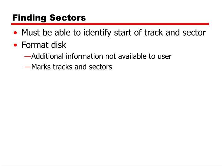 Finding Sectors