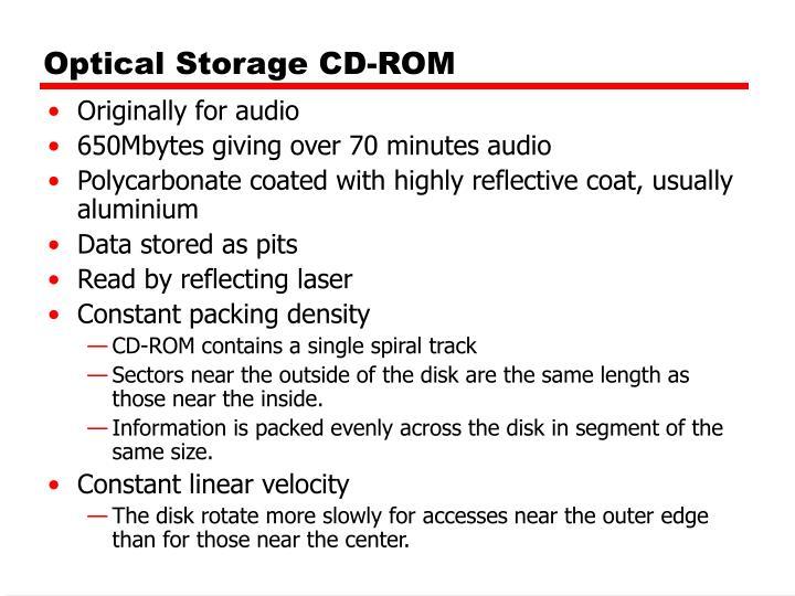 Optical Storage CD-ROM