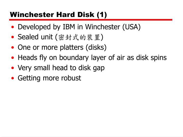 Winchester Hard Disk (1)