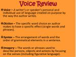 voice review