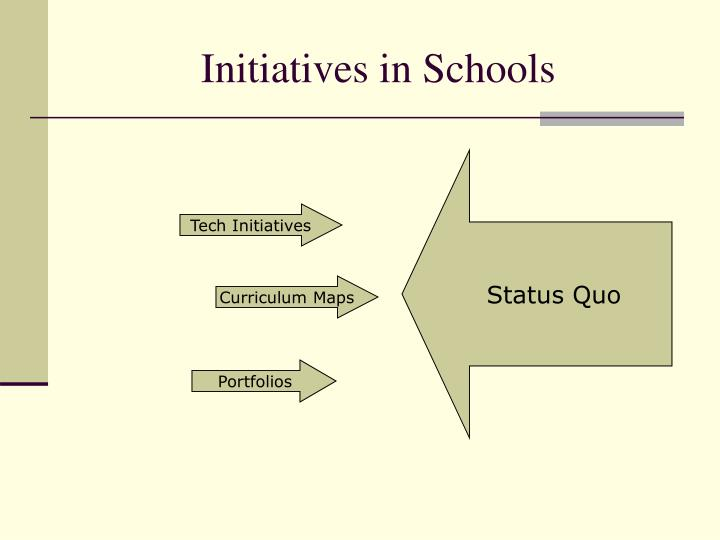 Initiatives in Schools