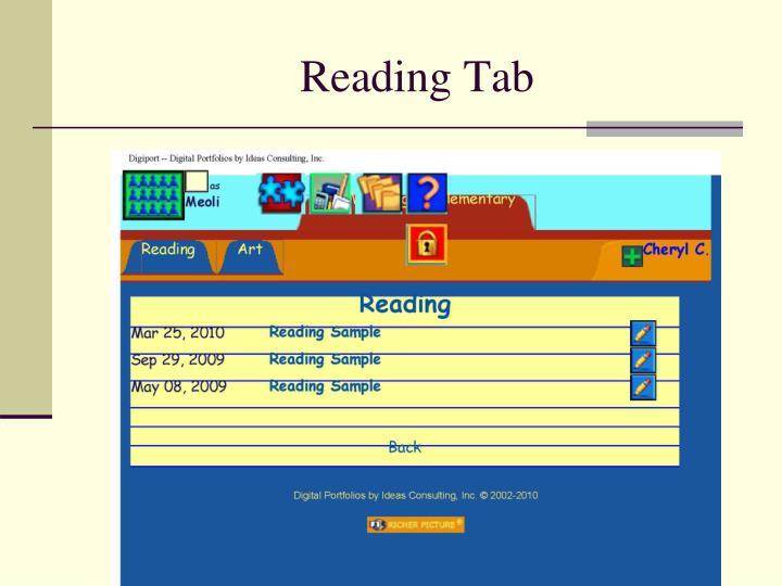 Reading Tab