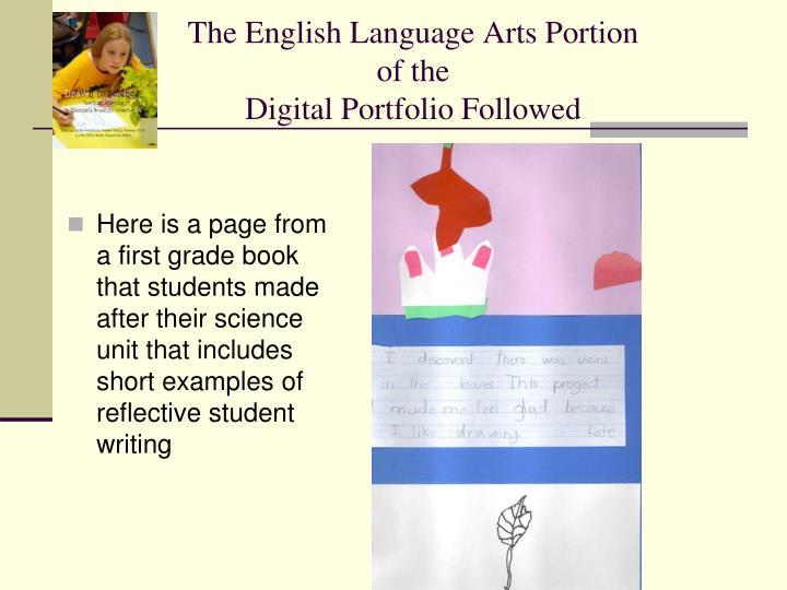 The English Language Arts Portion