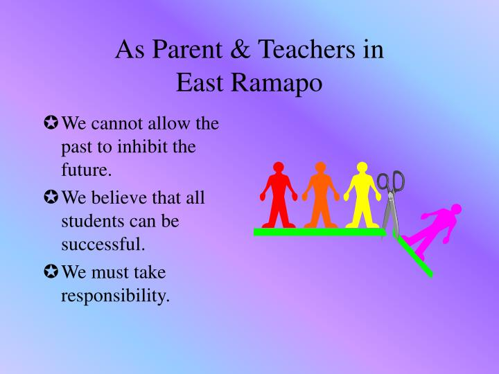 As parent teachers in east ramapo