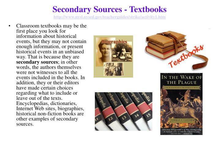 Secondary Sources - Textbooks