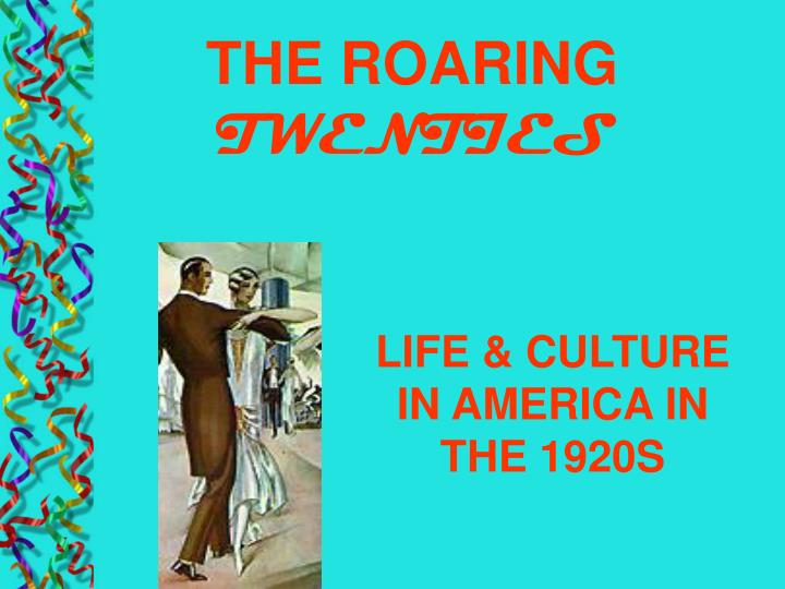 life culture in america in the 1920s n.