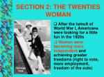 section 2 the twenties woman