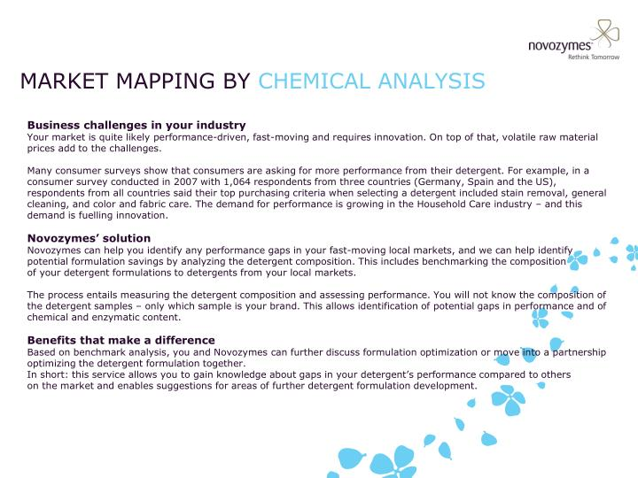 market mapping by chemical analysis