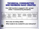 technical communities sme members have created