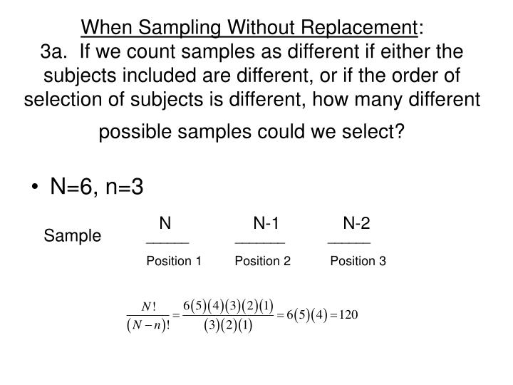 When Sampling Without Replacement