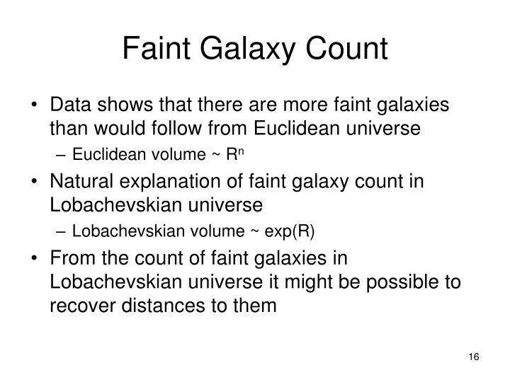 Faint Galaxy Count
