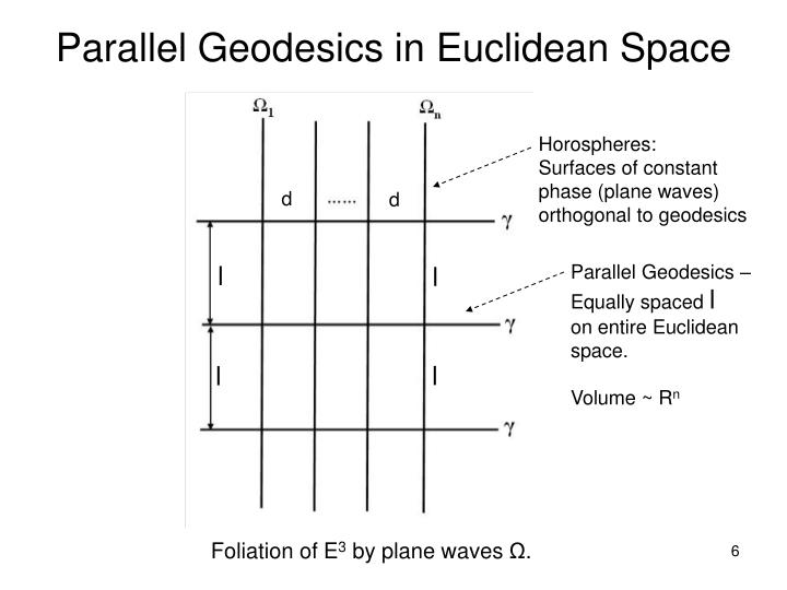 Parallel Geodesics in Euclidean Space