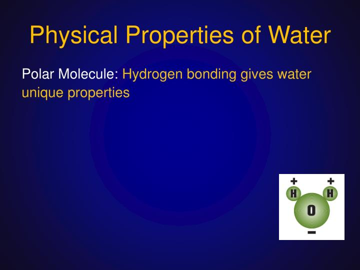 physical and chemical properties of water pdf