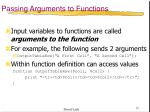 passing arguments to functions