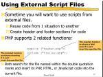 using external script files