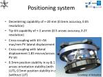 positioning system
