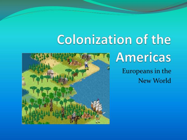 the motives for the european colonization 1 discuss the european motives for expansion and colonization in the new 1604 words | 7 pages 1 discuss the european motives for expansion and colonization in.