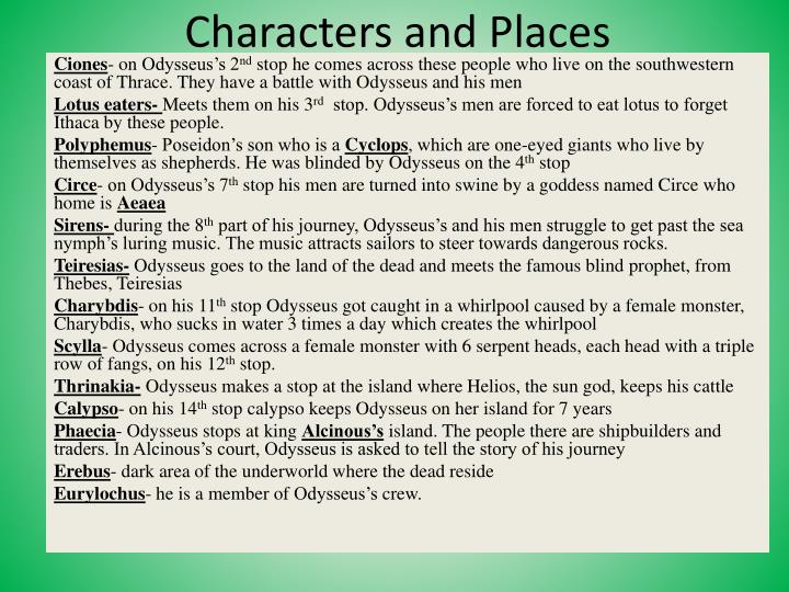 characters and places n.
