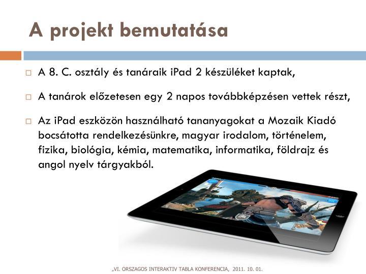 A projekt bemutatása