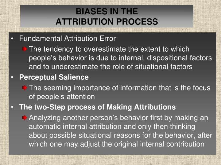 BIASES IN THE