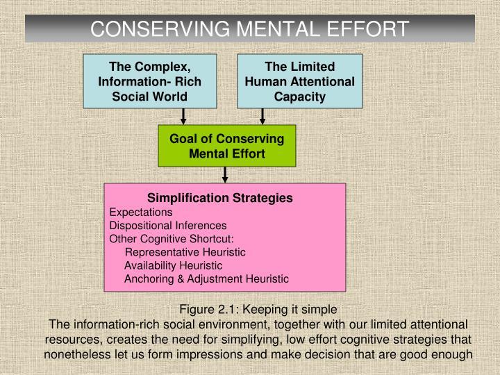 CONSERVING MENTAL EFFORT