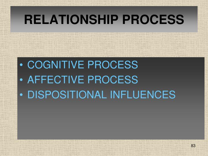 RELATIONSHIP PROCESS