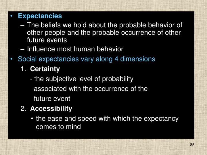 Expectancies