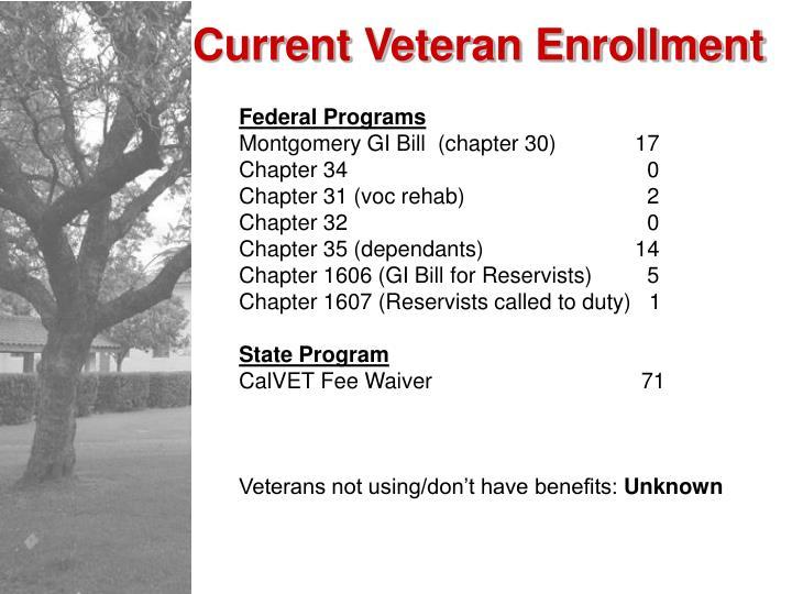 Current Veteran Enrollment