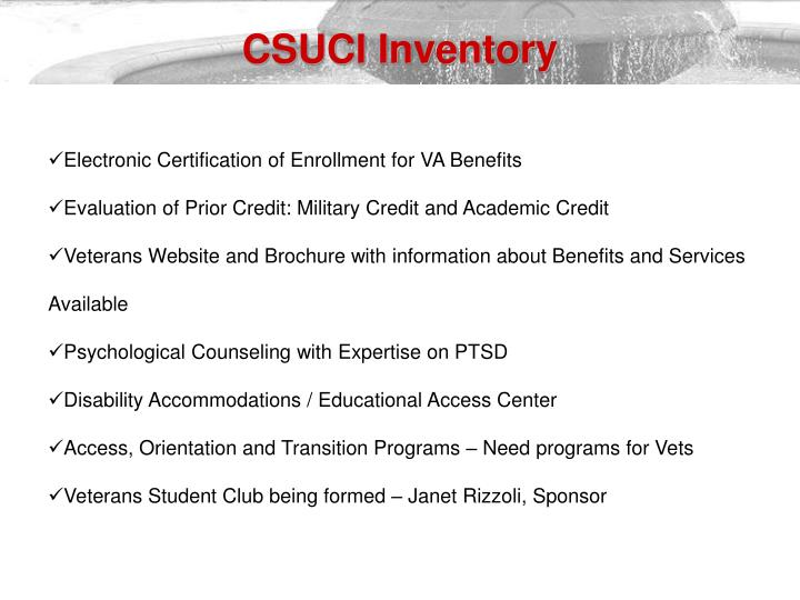 CSUCI Inventory