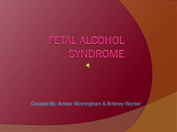 fetal alcohol syndrome argumentative essay
