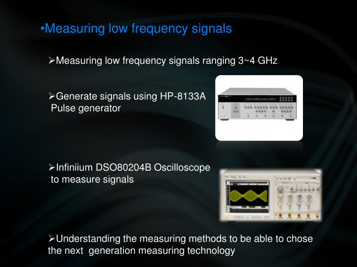 Measuring low frequency signals