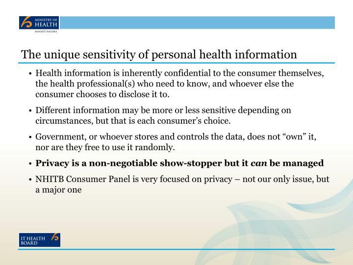 The unique sensitivity of personal health information