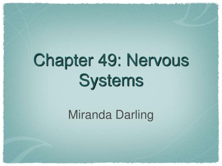 chapter 49 nervous systems n.