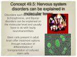concept 49 5 nervous system disorders can be explained in molecular terms