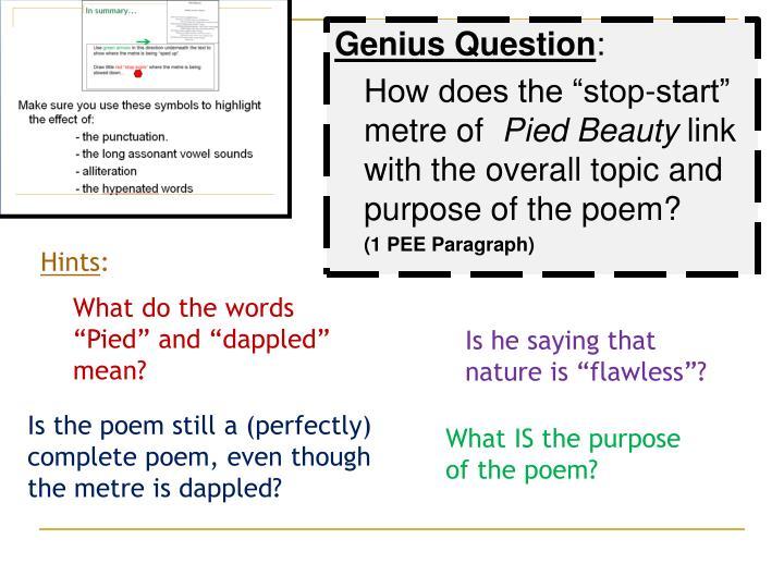 Genius Question