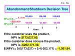 abandonment shutdown decision tree