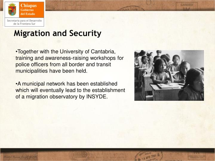 Migration and Security