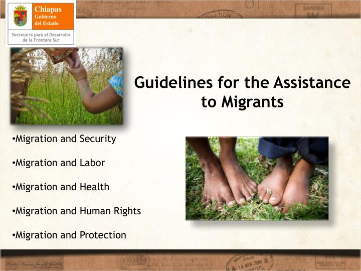 Guidelines for the Assistance to Migrants