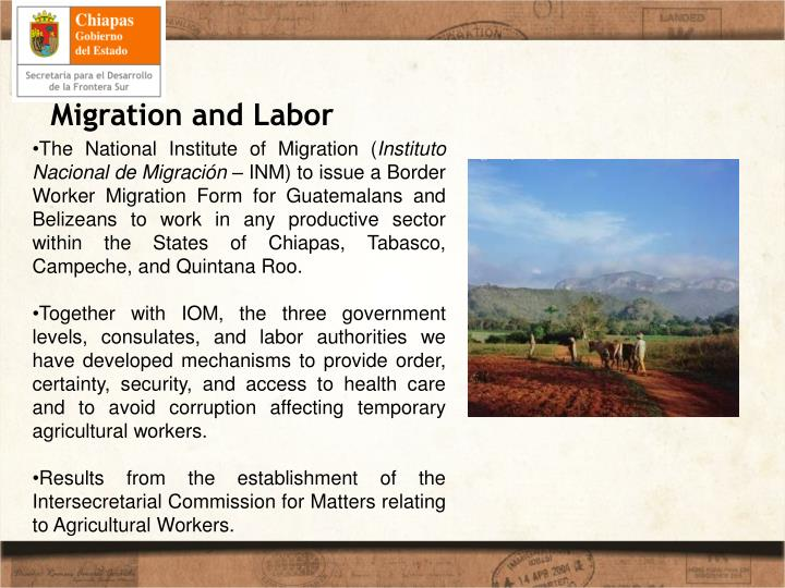 Migration and Labor
