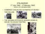 stalingrad 17 july 1942 2 february 1943 death of a german army