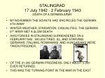 stalingrad 17 july 1942 2 february 1943 death of a german army1