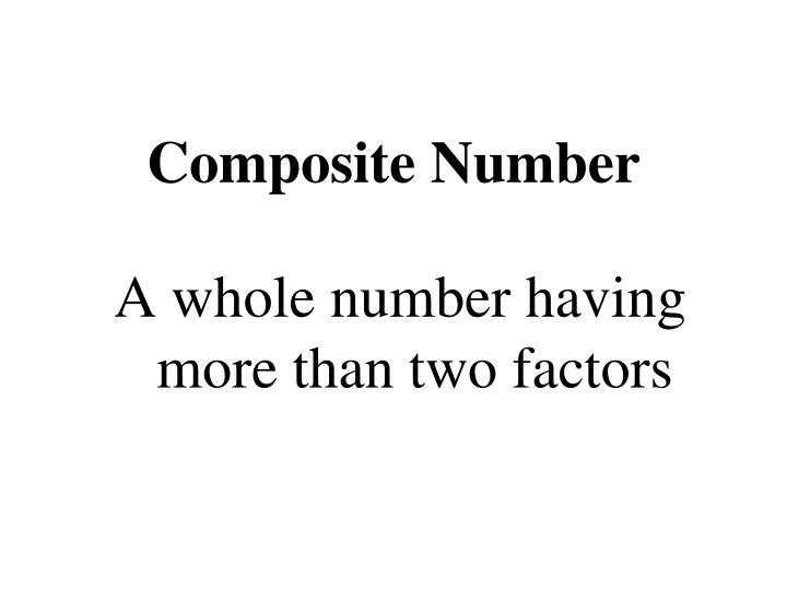 Composite Number