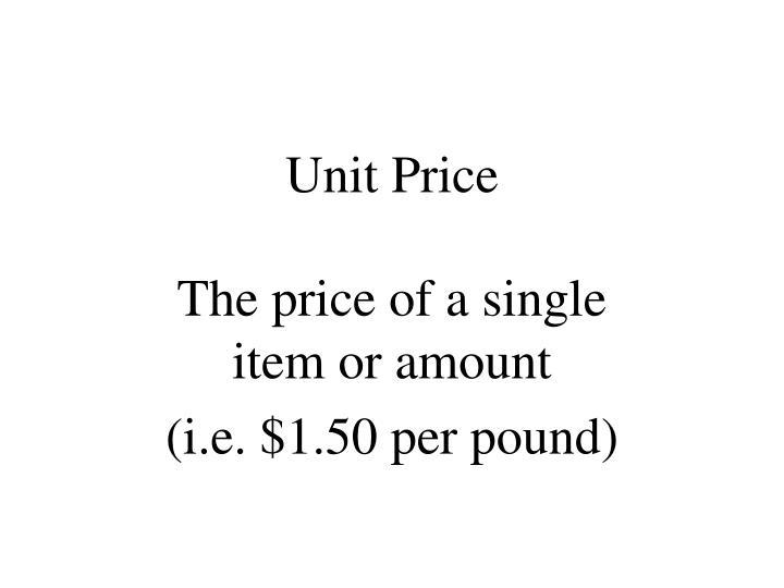 Unit Price