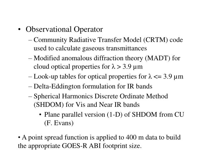 Observational Operator